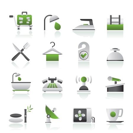 hospedaje: Hotel y motel iconos - conjunto de vectores icono