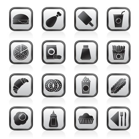 fast-food et boissons icônes - vecteur icône ensemble