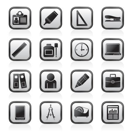 correttore: Business Objects e ufficio icone - Vector Icon Set Vettoriali