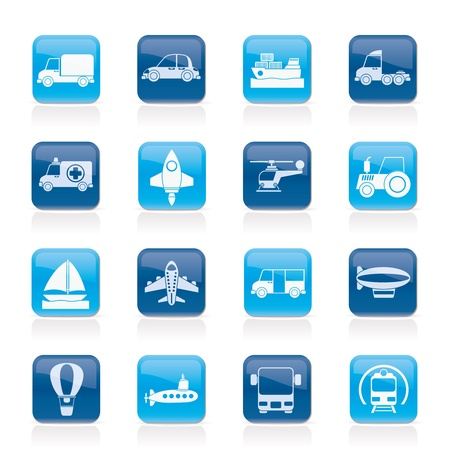 Different kind of transportation icons  Stock Vector - 15387022