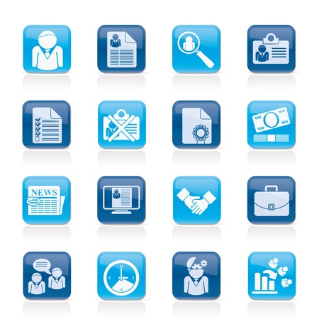 Employment and jobs icons 일러스트
