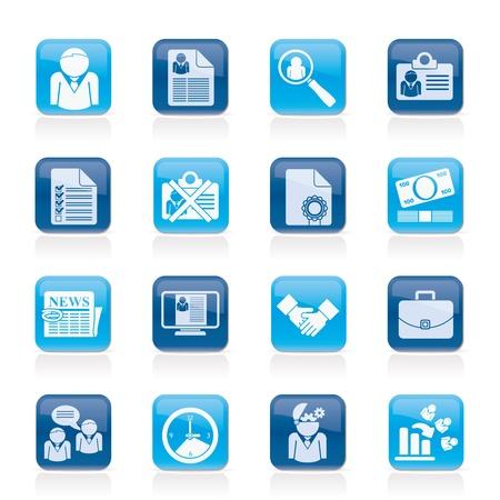 cv: Empleo y el empleo iconos Vectores
