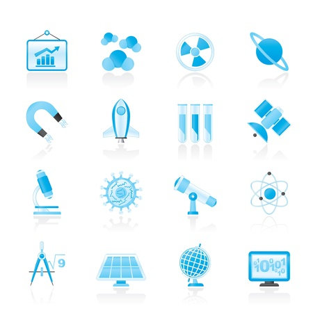 science, research and education icons Stock Vector - 15805185