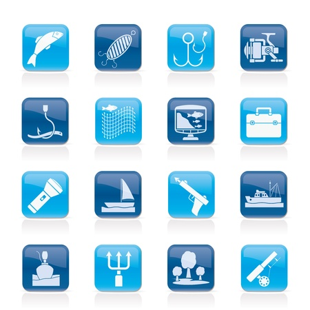 Fishing industry icons  Illustration