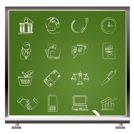 Business and office objects icons  Stock Vector - 15805193