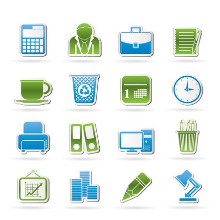 Business and office icons  Stock Vector - 15805192