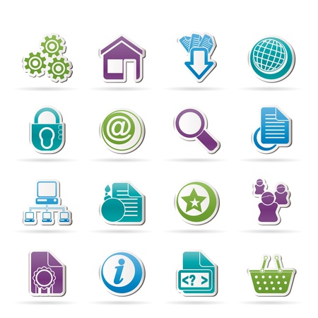 email bomb: Website and internet icons - vector icon set Illustration