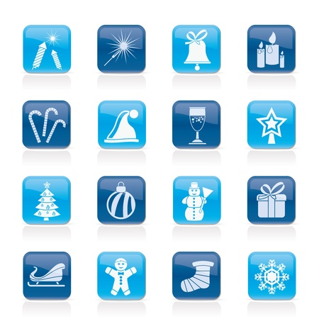 Christmas and new year icons - vector icon set 일러스트
