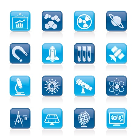 science, research and education Icons Vector