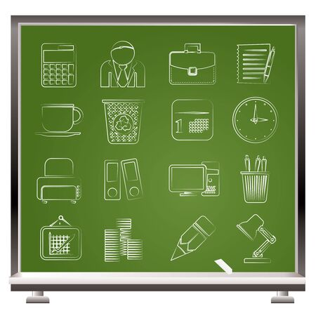 Business and office icons  Stock Vector - 16100000
