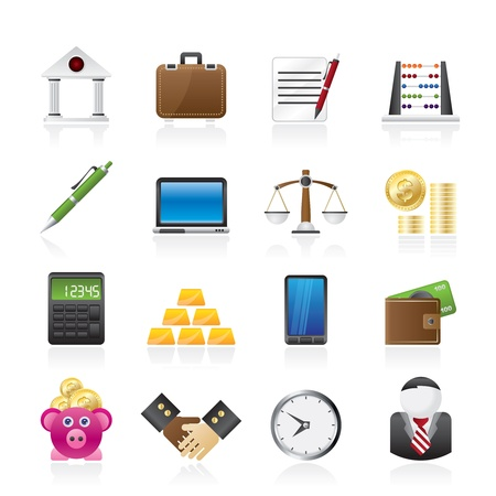 Business and office icons - vector icon set Stock Vector - 16221479