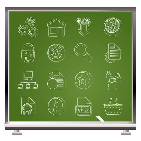 Website and internet icons - vector icon set Stock Vector - 16221474