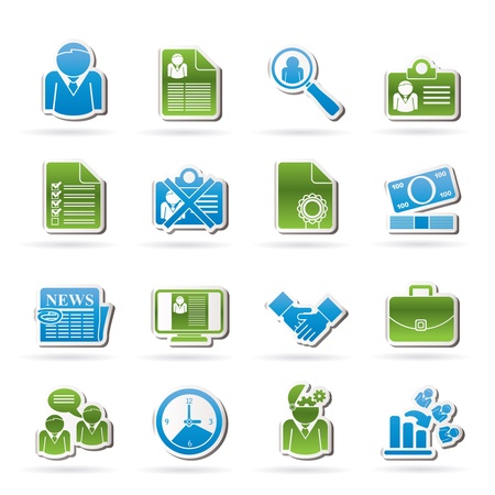 Employment and jobs icons - vector icon set Stock Vector - 16221473