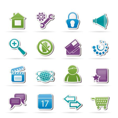 Website and internet icons - icon set Vector