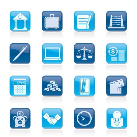 Business and office icons - vector icon set Stock Vector - 16587033