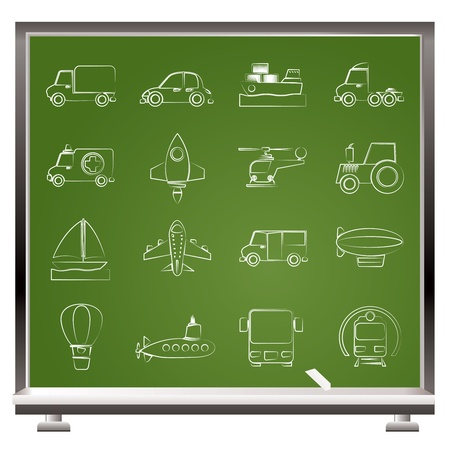 agrimotor: Different kind of transportation icons - vector icon set Illustration