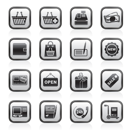 add icon: shopping and retail icons -  icon set Illustration
