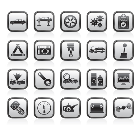 computer crash: car services and transportation icons -  icon set