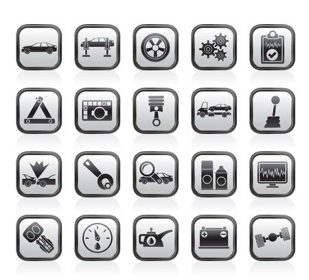 baterii: Usługi samochodowe i ikony transport - zestaw ikon