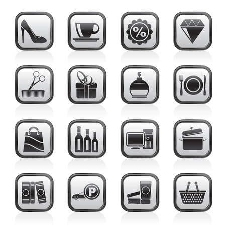 electronic book: Shopping and mall icons -  icon set