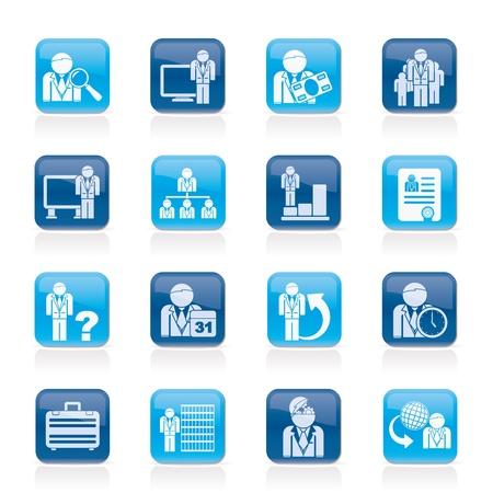 jerarquia: Negocios, administraci�n y jerarqu�a iconos - vector set icono Vectores