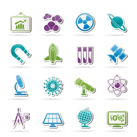 science, research and education Icons - Vector Icon set Stock Vector - 16884829