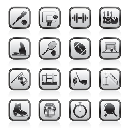Sport objects icons - vector icon set Vector