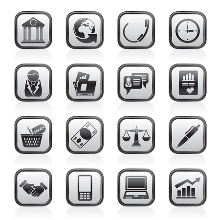 Business and office objects icons - vector icon set Stock Vector - 16884822