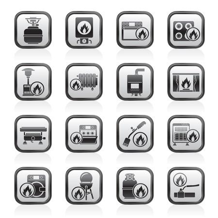 Household Gas Appliances icons - vector icon set Stock Vector - 16884825