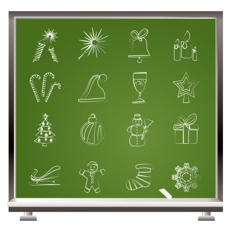 Christmas and new year icons - vector icon set Stock Vector - 17192367