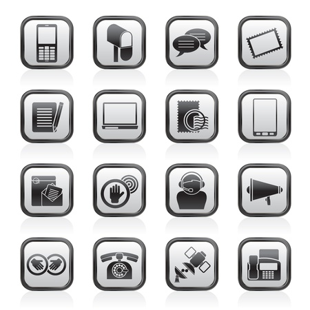 Contact and communication icons - vector icon set Stock Vector - 17217021