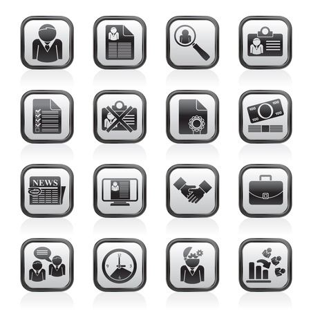 Employment and jobs icons - vector icon set Stock Vector - 17217029