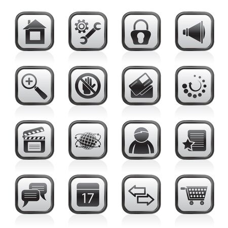 Website and internet icons - vector icon set Stock Vector - 17217018