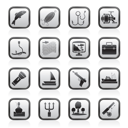 Fishing industry icons - vector icon set Stock Vector - 17217027
