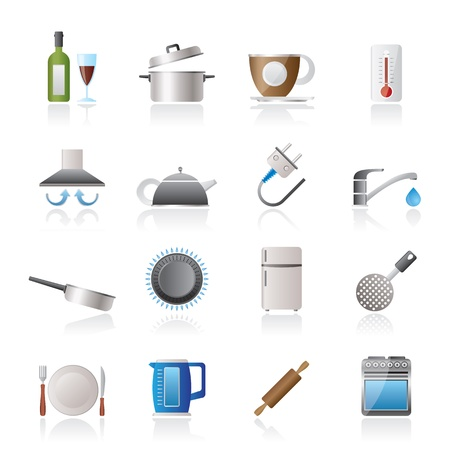 gas stove: kitchen objects and accessories icons