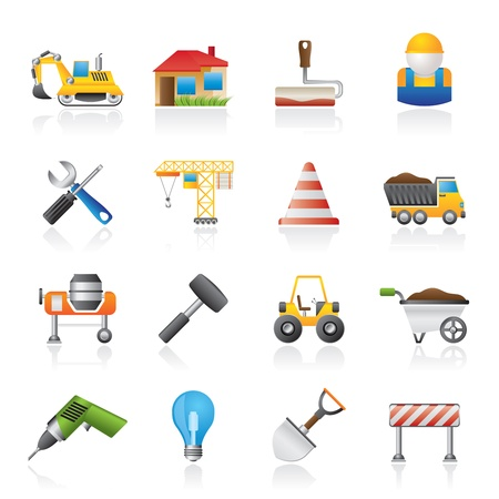 Building and construction icons - icon set Illustration