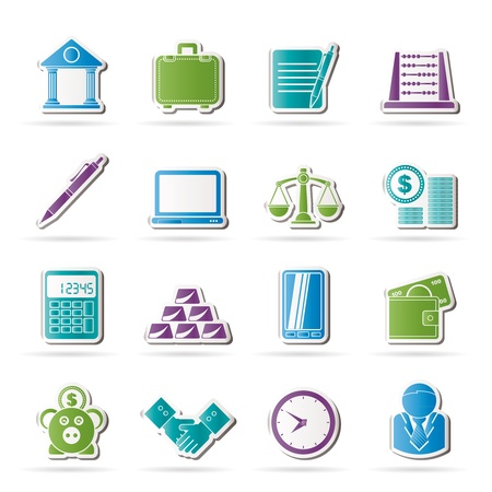 Business and office icons -  icon set Stock Vector - 17590415
