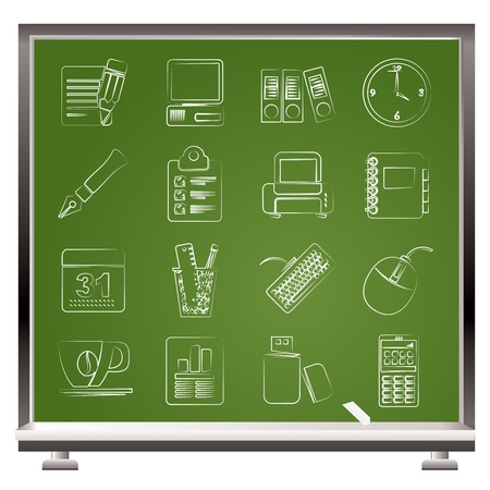 business equipment: Business and office equipment icons - vector icon set