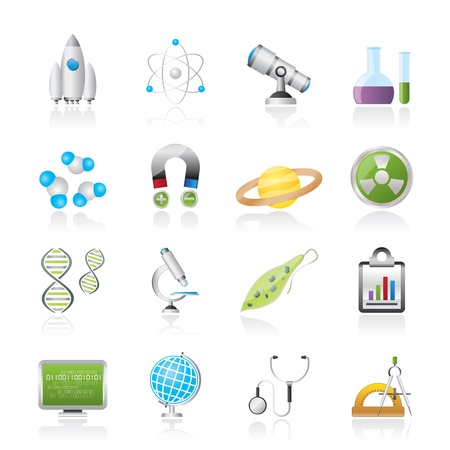 Science, Research and Education Icons - Vector Icon set Stock Vector - 17817531