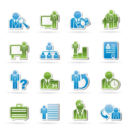 salaries: Business, management and hierarchy icons - vector icon set