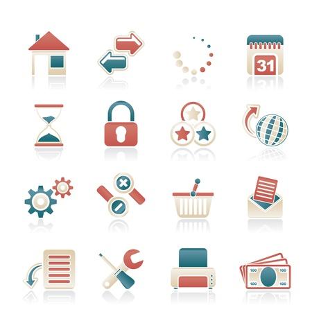 site web: Web Site e le icone di Internet - set di icone vector