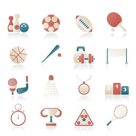 soccer net: Sport equipment icons - vector icon set