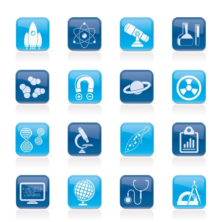 electromagnetism: Science, Research and Education Icons - Vector Icon set Illustration
