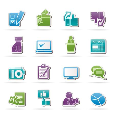 election debate: Voting and elections icons - vector icon set Illustration