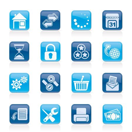 zoom icon: Web Site and Internet icons - vector icon set Illustration