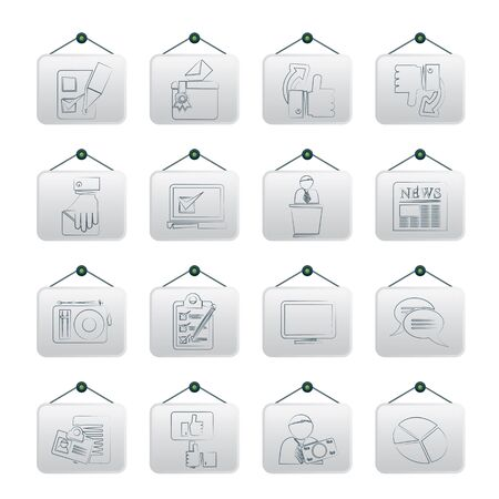 electronic voting: Voting and elections icons -  icon set Illustration