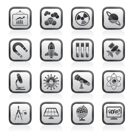 science, research and education Icons - Vector Icon set Stock Vector - 18377349