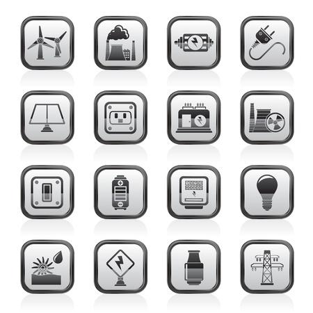 iconos energ�a: electricidad, potencia y energ�a iconos - vector set icono Vectores
