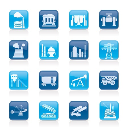 Heavy industry icons - vector icon set Stock Vector - 18412960