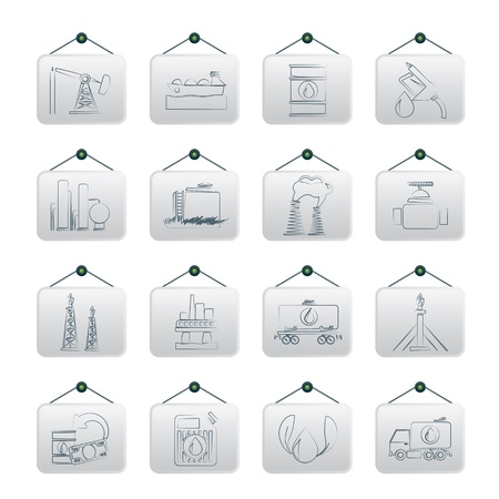 Petrol and oil industry icons -  icon set Vector